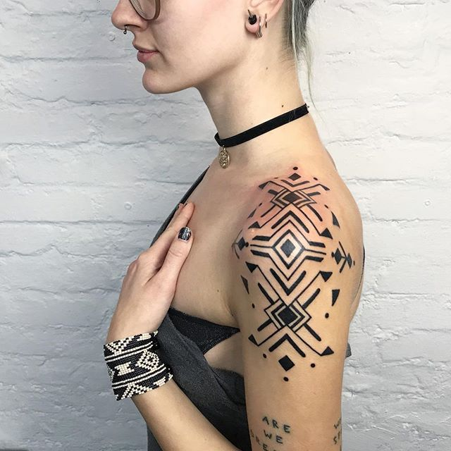 abstract tattoo geometric