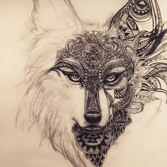 tattoo logo raposa linhas