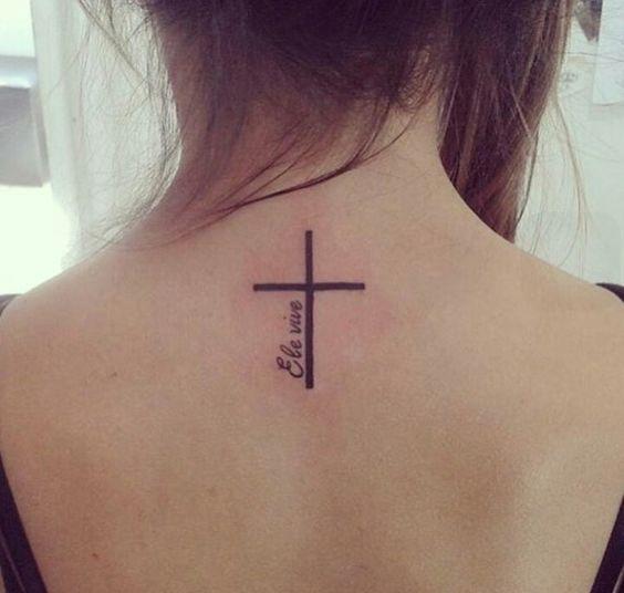 ele vive cruz tatuagem tattoo