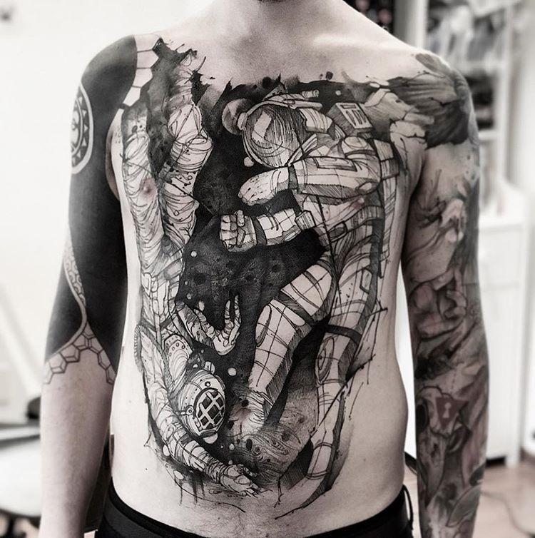 astronautas tatuagem lincoln lima