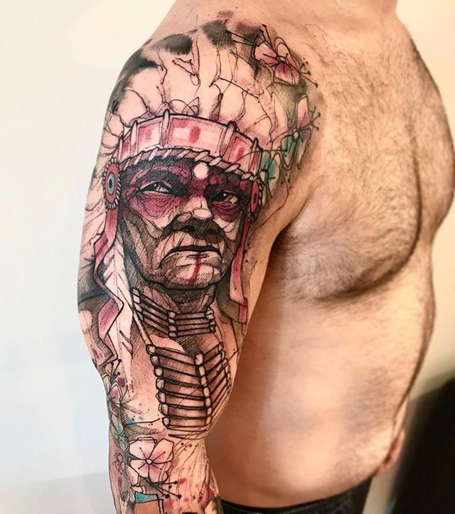 indio guerreiro tatuagem tattoo lincoln lima