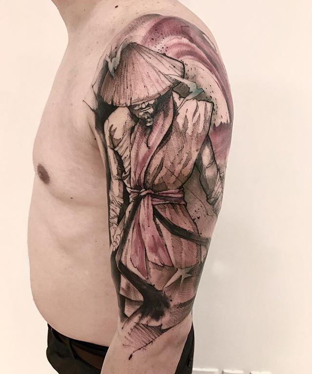 samurai guerreiro tatuagem lincoln lima tattoo