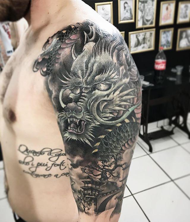 dragão oriental tatuagem tattoo