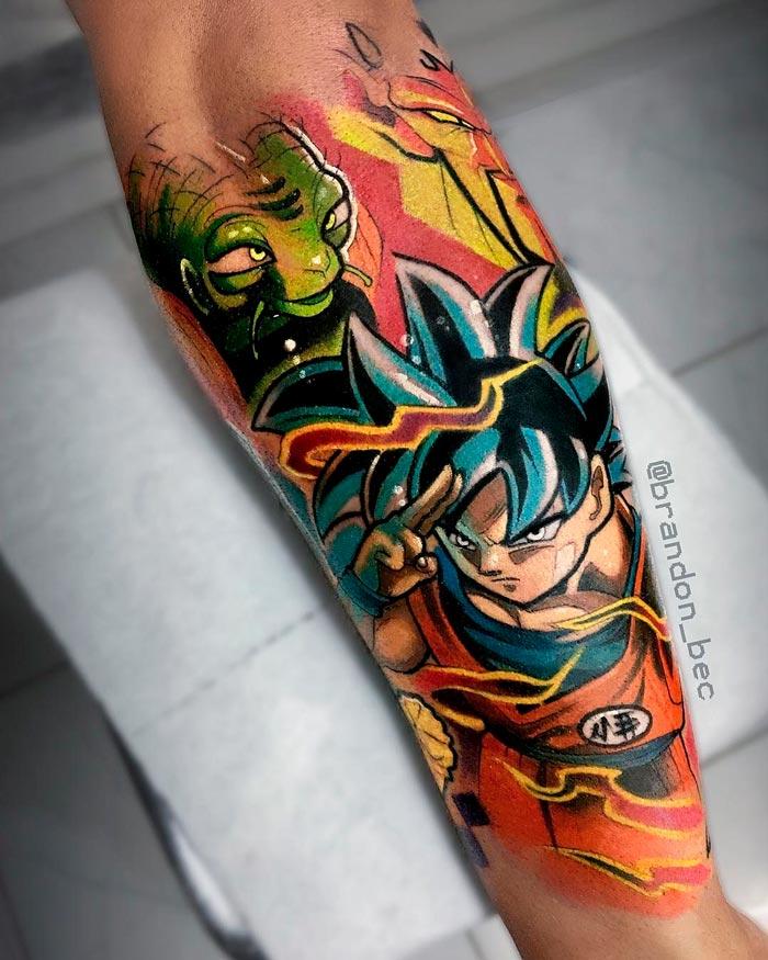 dragon ball z tattoo tatuagem goku