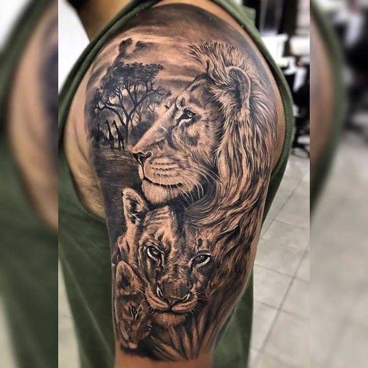 tattoo-tatuagem-famila-de-leoes